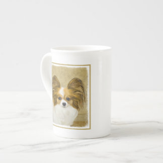 Papillon (Hound Tri) Painting - Original Dog Art Tea Cup