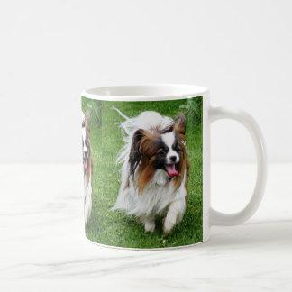 Papillon_in motion coffee mug