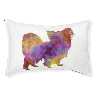 Papillon in watercolor pet bed