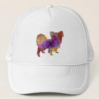 Papillon in watercolor trucker hat