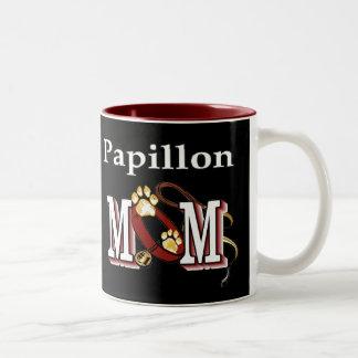 Papillon MOM Gifts Two-Tone Coffee Mug