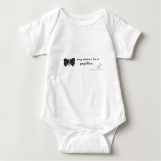 papillon - more breeds baby bodysuit