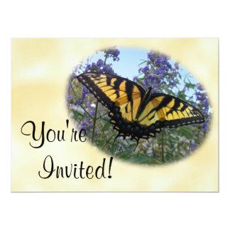 Papillon oriental de machaon de tigre carton d'invitation  16,51 cm x 22,22 cm
