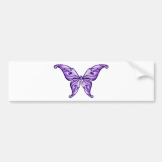 papillon pourpre mignon autocollant de voiture