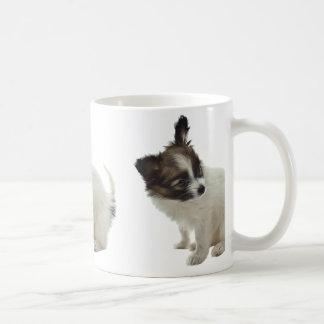 papillon pup coffee mug