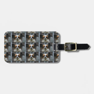 Papillon Puppy Dog Luggage Tag