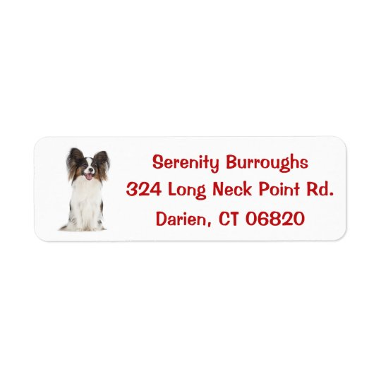 Papillon Puppy Dog Red
