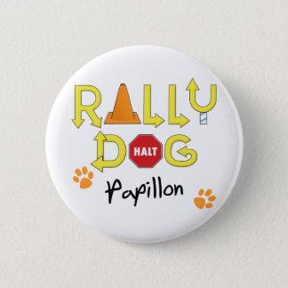 Papillon Rally Dog 2 Inch Round Button