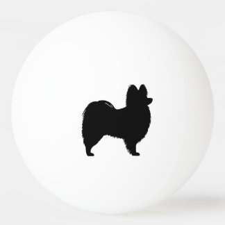 Papillon Silhouette Ping Pong Ball
