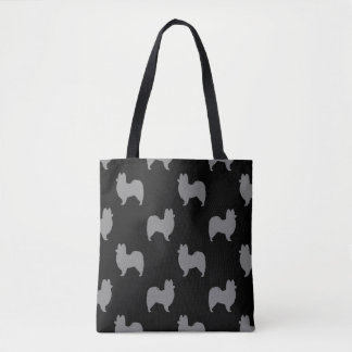 Papillon Silhouettes Pattern Tote Bag