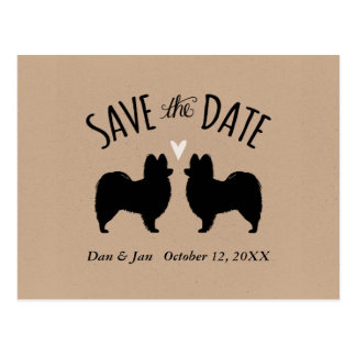 Papillon Silhouettes Wedding Save the Date Postcard