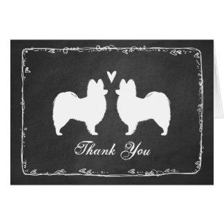 Papillon Silhouettes Wedding Thank You Card