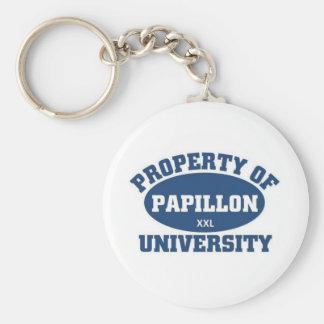 Papillon University Basic Round Button Keychain