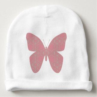 Papillon vintage rose bonnet pour bébé