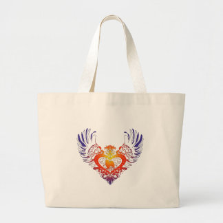 Papillon Winged Heart Large Tote Bag