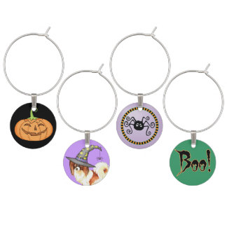 Papillon Witch Wine Charm