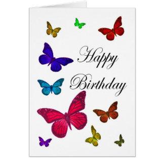 Papillons d'anniversaire carte de vœux