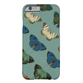 Papillons dans le bleu coque barely there iPhone 6
