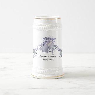 Papillons et mariage Bells Chope À Bière