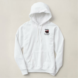 Papillons Leave Paw Prints Embroidered Hoodie