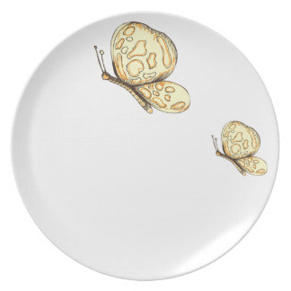 papillons party plates