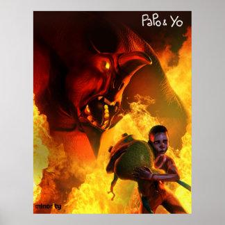 Papo & Yo Angry Monster Poster