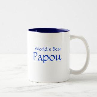 Papou, World's Best Two-Tone Mug