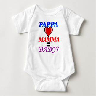 Pappa Love Mamma Equals Baby Baby Bodysuit