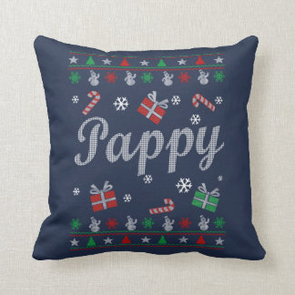 Pappy Christmas Throw Pillow