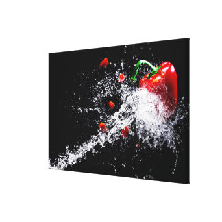 Paprika splash canvas print