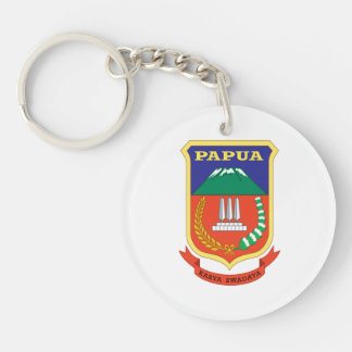 Papua Flag Double-Sided Round Acrylic Keychain