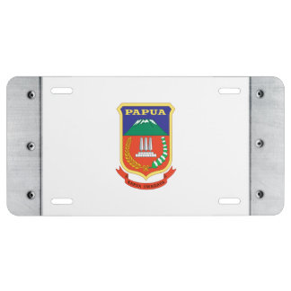 Papua Flag License Plate