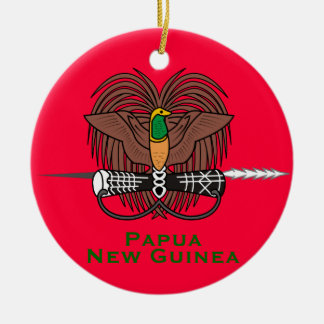 Papua New Guinea* Ceramic Christmas Ornament