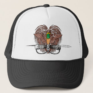 Papua New Guinea Coat Of Arms Trucker Hat