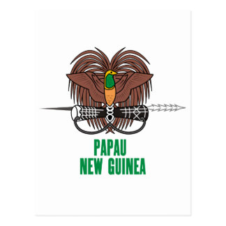 PAPUA NEW GUINEA - emblem/flag/coat of arms/symbol Postcard