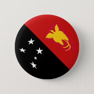 Papua New Guinea Fisheye Flag Button