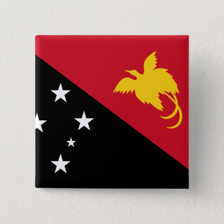 Papua New Guinea Flag 2 Inch Square Button