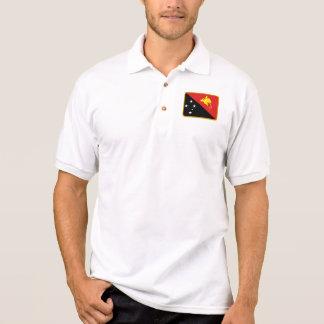 Papua New Guinea flag golf polo