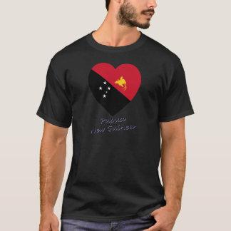 Papua New Guinea Flag Heart T-Shirt