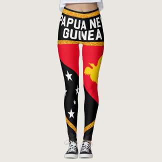 Papua New Guinea Flag Leggings