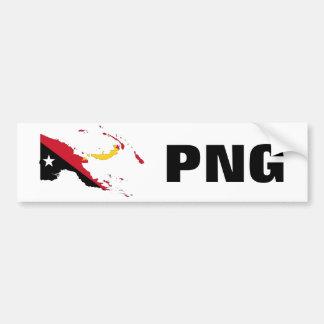 Papua New Guinea Flag Map & PNG Bumper Sticker