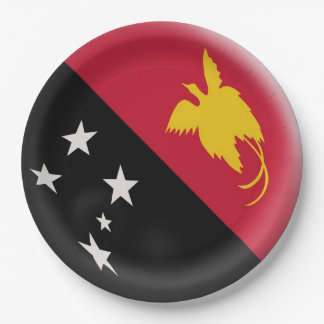 Papua New Guinea flag Paper Plate