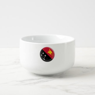 Papua New Guinea flag Soup Mug