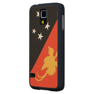 Papua New Guinea Flag Maple Galaxy S5 Case