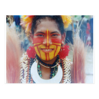 Papua New Guinea Girl Postcard