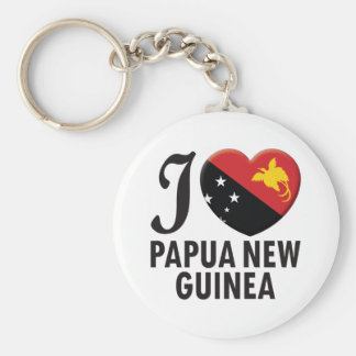Papua New Guinea Love Keychain