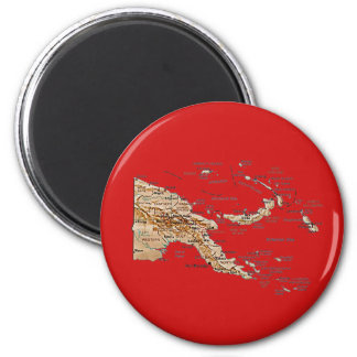Papua New Guinea Map Magnet