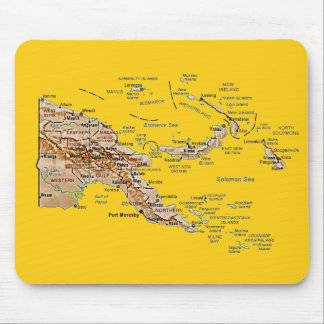 Papua New Guinea Map Mousepad