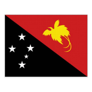 Papua New Guinea National Flag Postcard