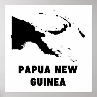 Papua New Guinea Silhouette Poster